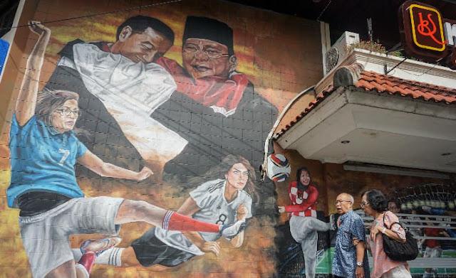 Mural Jokowi dan Prabowo