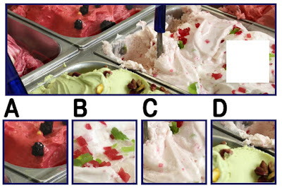 Figure: What's your flavourite flavour? Choose the missing piece.