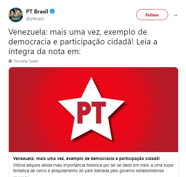 Venezuela: mais uma vez, exemplo de democracia e participação cidadã!