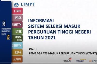 Informasi Sistem Seleksi Masuk Perguruan Tinggi Negeri (SMPTN) Tahun 2021