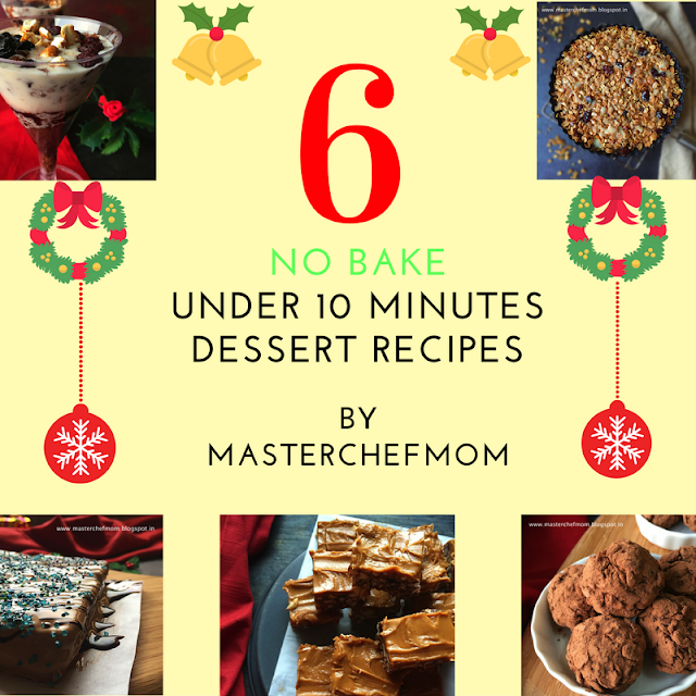 Under 10 minutes dessert recipes