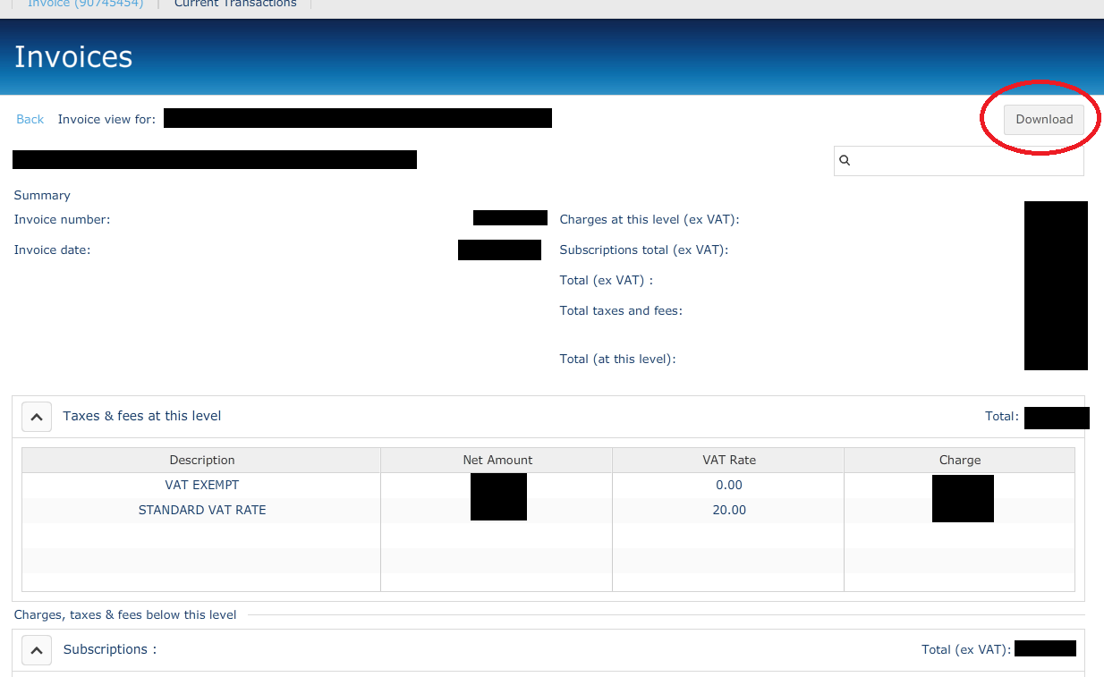 O2 Online: Downloading your bills - Business Mobile Life