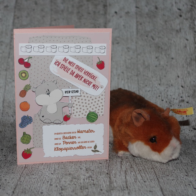 [DIY] Die Welt spielt verrückt!  Hamster-Grußkarte für Corona-Zeiten