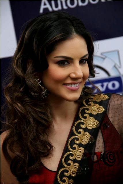 Sunny Leone Hot And Sexy In Black Saree - Hot Images-6152