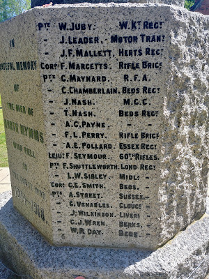 Photograph of The names of 'those who fell' in the 1914 - 1918 war Image by the North Mymms History Project released under Creative Commons