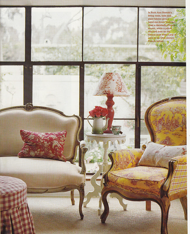 Hydrangea Hill Cottage: French Country Cottage In Reds And