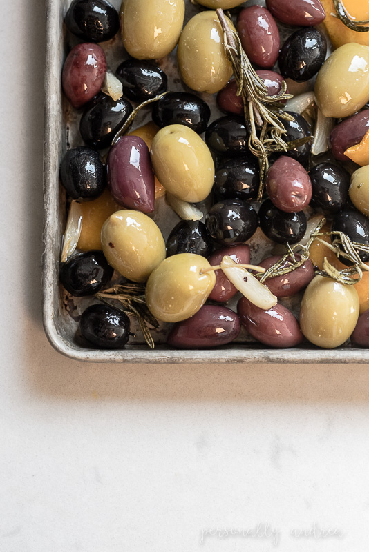 Homemade Gourmet Olives |  Add gourmet flavors like rosemary and orange to store-bought olives and serve them up at your next party | personallyandrea.com