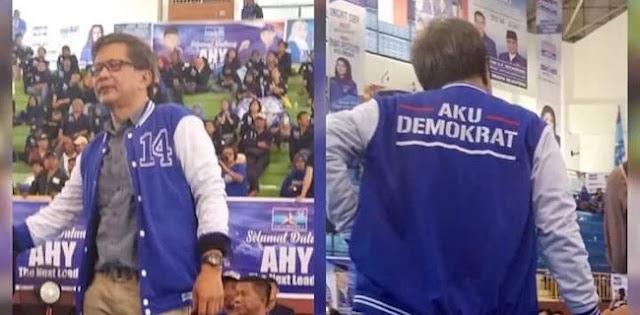 Pakai Jaket Demokrat, Rocky Gerung: Saya Pilih Biru, KTA Menyusul