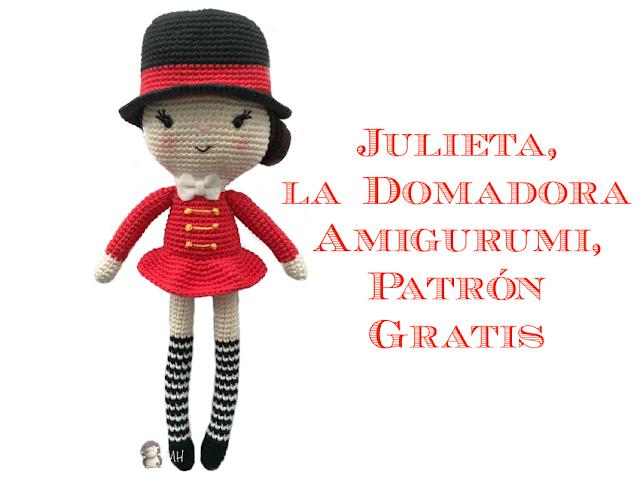Muñeca amigurumi Julieta domadora