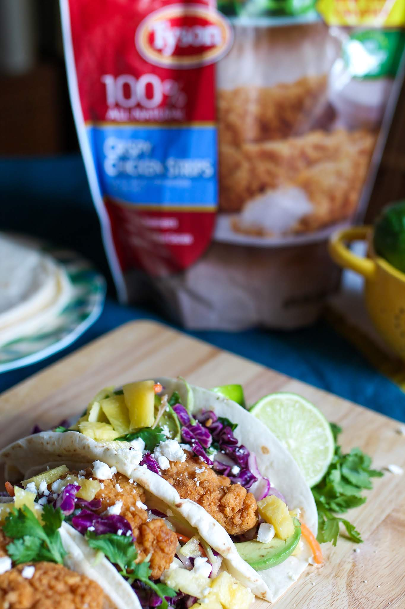 tacos // taco ideas // chicken tacos // fried chicken tacos // Tyson tenders ideas // chicken tenders recipes // what to make with chicken tenders // chicken tenders // chicken tacos recipes // easy meals // kid friendly meals // week night meal ideas // quick and easy meal ideas // easy meal ideas