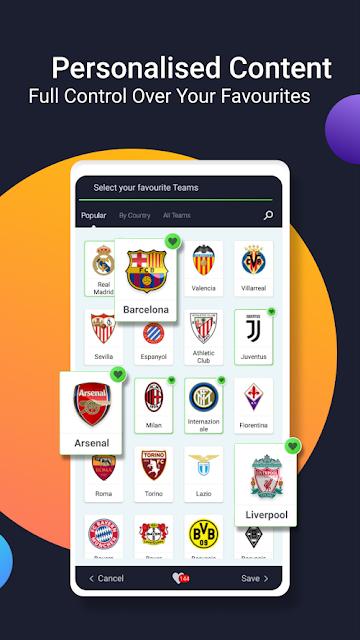 تحميل تطبيق موبي سكورmobiscore  ملخصات نتائج اهداف مباريات اليوم لايف اخر اصدار
