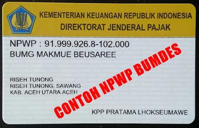 Cara Pengurusan dan Syarat Membuat NPWP BUMDes