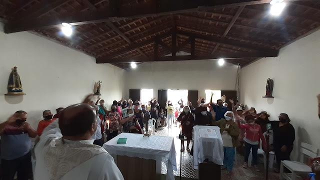 FREI DAMIÃO: Fiéis participam da Missa do Romeiro em São Joaquim do Monte