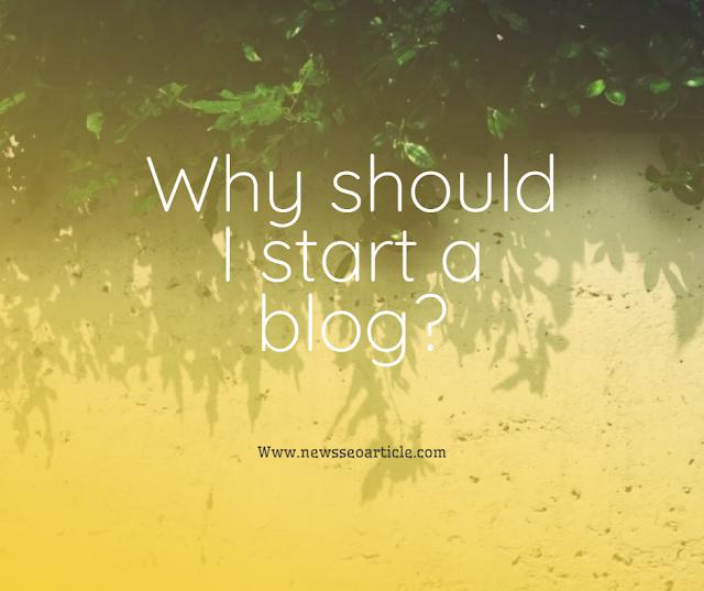 Why should I start a blog?