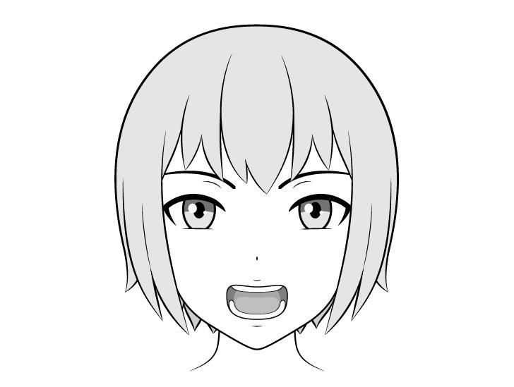 Anime gigi gambar mulut terbuka