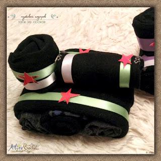 Мужской подарок:Танк из носков