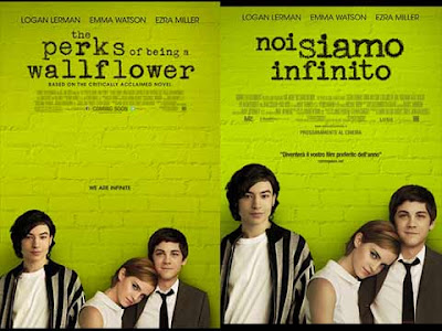 La locandina di ''The perks of beings a wallflower'', in italiano ''Noi siamo infinito''
