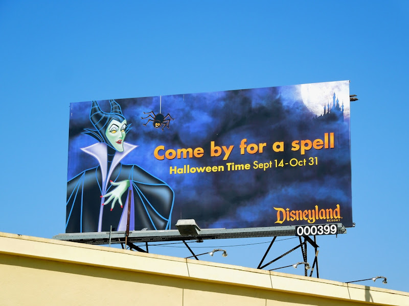 Disneyland Maleficent Halloween billboard