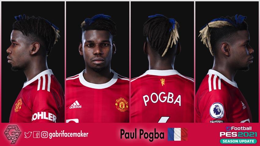 Paul Pogba New Hair 2021 For eFootball PES 2021