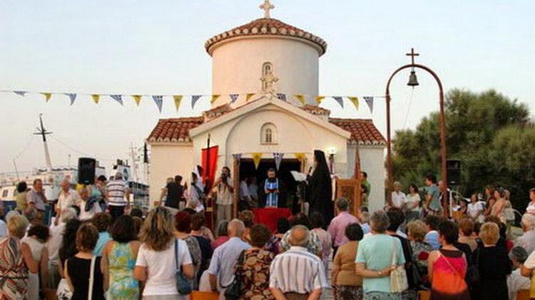Εορτασμός του παρεκκλησίου του Αγίου Εύπλου στο λιμάνι της Αλεξανδρούπολης