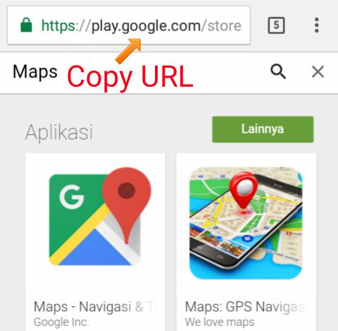 Cara Menemukan URL Aplikasi google Play Store Untuk Membuat Link untuk Blog