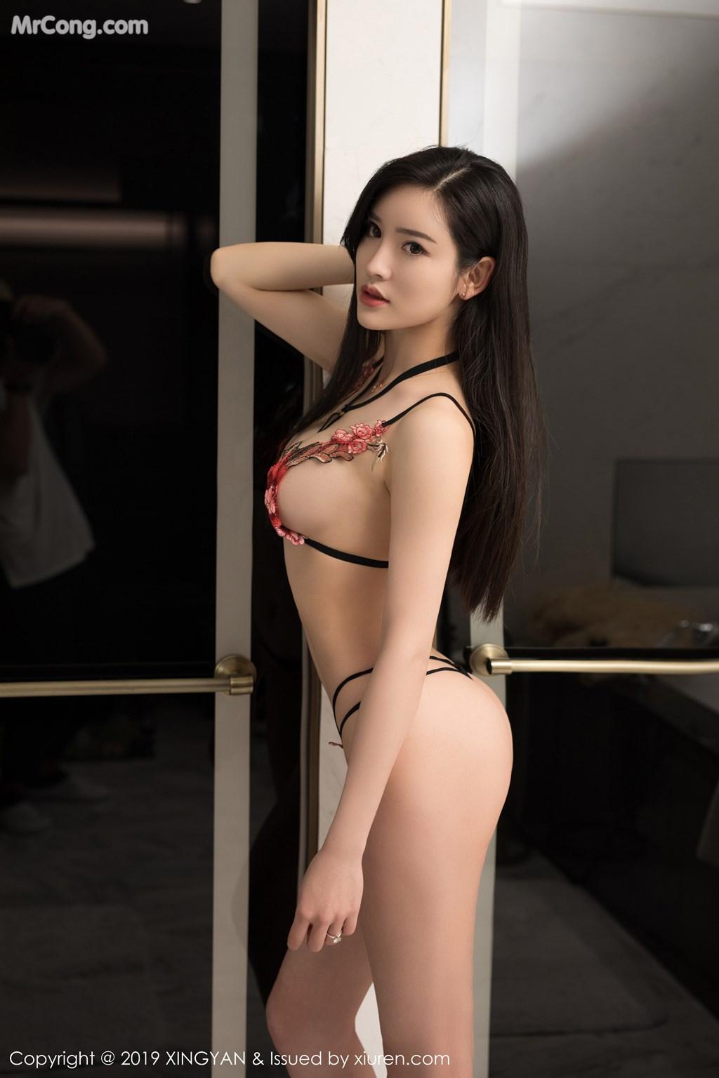 Image XingYan-Vol.121-He-Chen-Xi-MrCong.com-038 in post XingYan Vol.121: He Chen Xi (何晨曦) (49 ảnh)