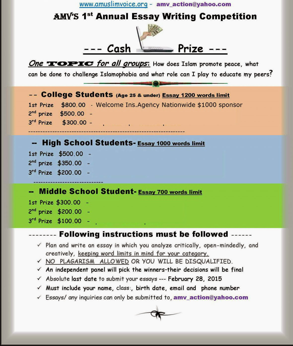 International essay writing competition