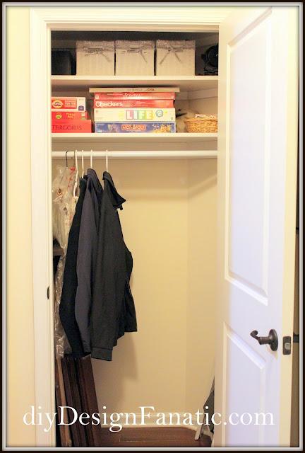 Coat closet , Organization, Organize, Cottage, Cottage Style, Farmhouse Style