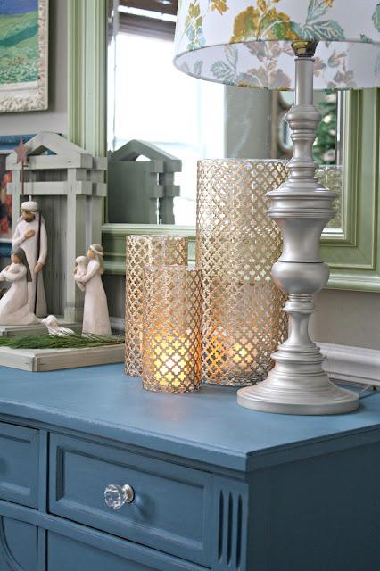 radiator sheeting candleholders