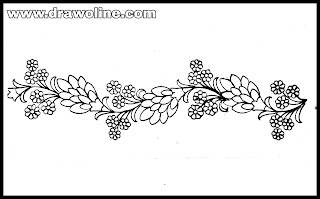 saree border design drawing easy,embroidery saree border design drawing