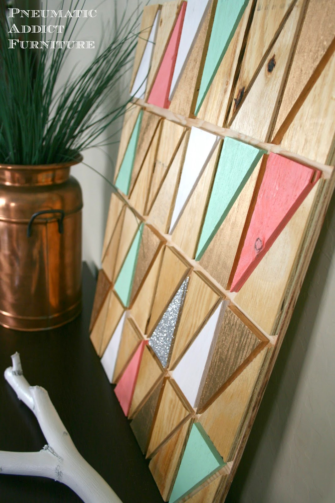 Home Coming: Guest Post: Wood Triangle Art