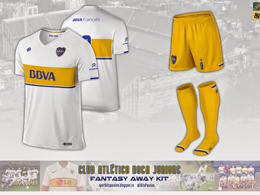 the latest 79b17 a1714 sport kits passion: My designs : Club Atlético Boca Juniors.
