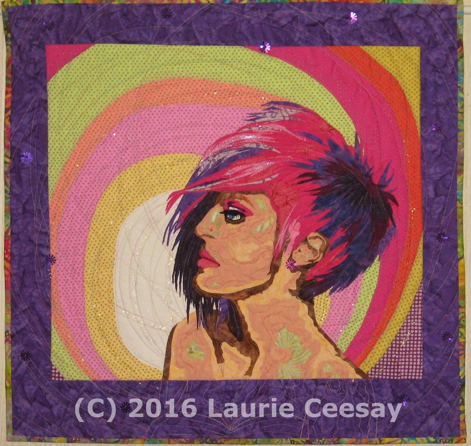 Artsy Chick Quilts: New Portrait Quilt: Raspberry Swirl : portrait quilts - Adamdwight.com