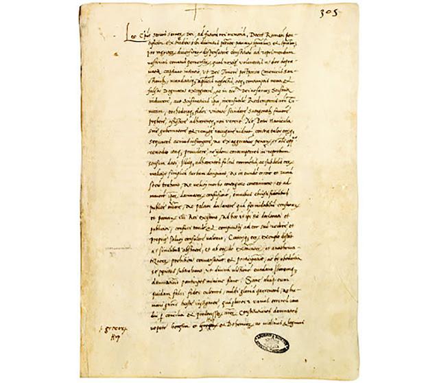 """Bula de excomunhão de Lutero """"Decet Romanum Pontificem"""", de Leão X, de 3/1/1521"""