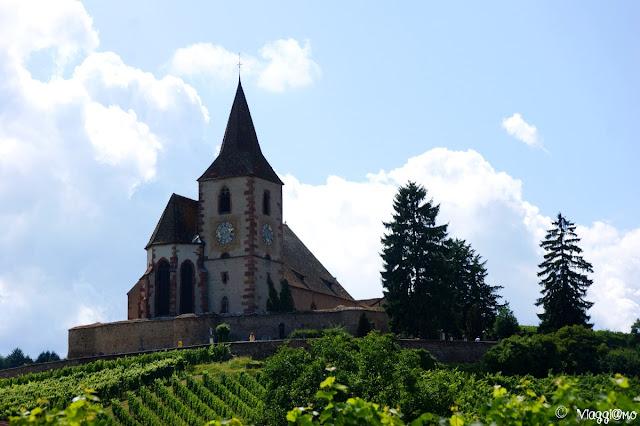 La bella chiesa fortificata di Hunawihr