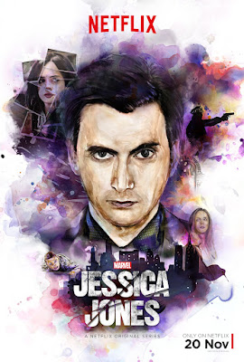Marvel's Jessica Jones Character One Sheet Television Posters by David Mack - David Tennant as Kilgrave the Purple Man