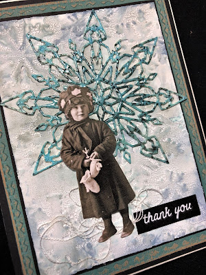 Sara Emily Barker Wintry Mixed Media Cards https://sarascloset1.blogspot.com/2019/01/wintry-mixed-media-cards-for-frilly-and.html #timholtz #sizzixalterations #iceflake #flurry1 2