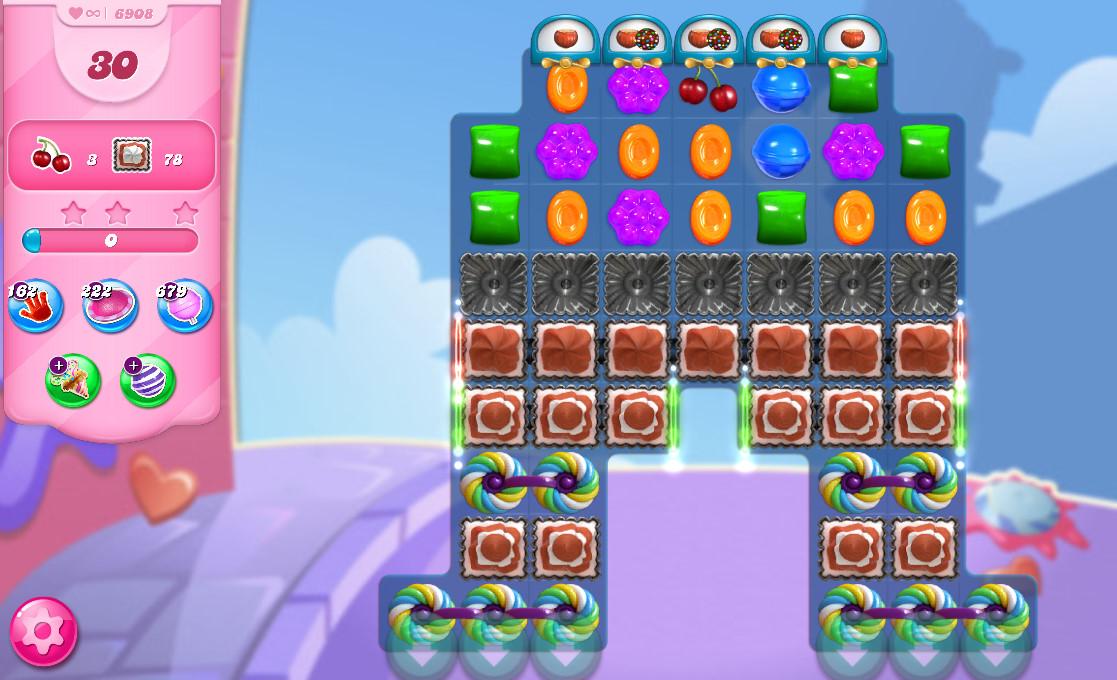 Candy Crush Saga level 6908