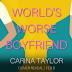 Cover Reveal - World's Worse Boyfriend by Carina Taylor