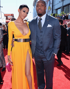 Terrell Suggs With His Wife Png