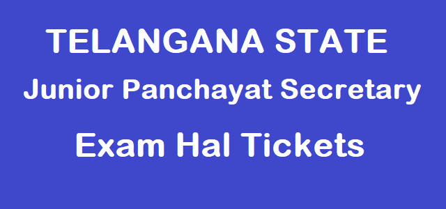 Telangana State Junior Panchayat Secretary Hall Tickets, TS Admit Cards, TS Hall Tickets, TS Junior Panchayat Secretary Posts, TS State, www.tsprrecruitment.in