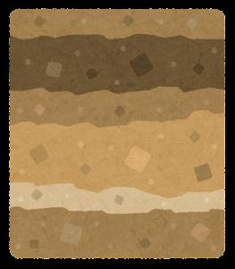 地層のイラスト(火山)