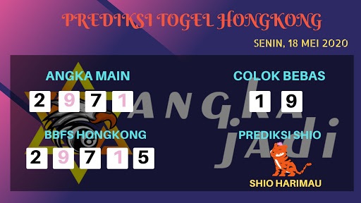 Prediksi Togel Hongkong Senin 18 Mei 2020 - Bocoran Hongkong