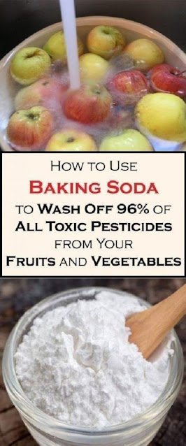 How To Use Baking Soda To Wash Off 96% Of All Toxic Pesticides From Your Fruits