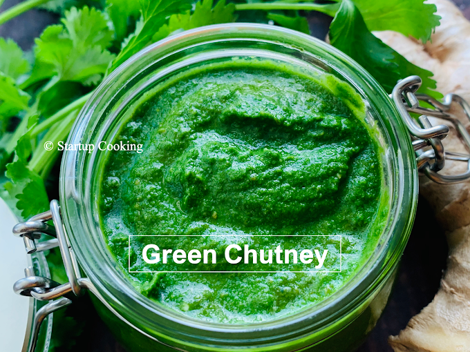 Green Chutney Recipe | How to make Green Chutney | Green Chutney for Chaat Recipe | Startup Cooking
