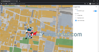 Tampilan Peta Bidang BPN