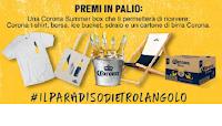 Logo Concorso Corona ''Il Paradiso dietro l'angolo'' : vinci gratis Summer Box (birre,ice but, t-shirt e telo)