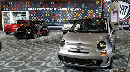 Fiat display at the NY Auto Show