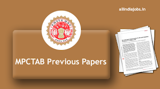 MPCTAB Previous Year Question Papers