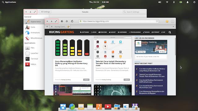 Cara Menampilkan Tombol Minimize di Window Elementary OS